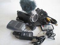 Sony handycam HDR-SR5E video camera and ancillary equipment