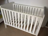 Mothercare white cot