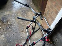 4 x 4 bike rack carrier fits to rear spare wheel takes up to 2 bikes vgc