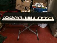 Yamaha electric piano P-70 p 70 full size weighted keys with stand
