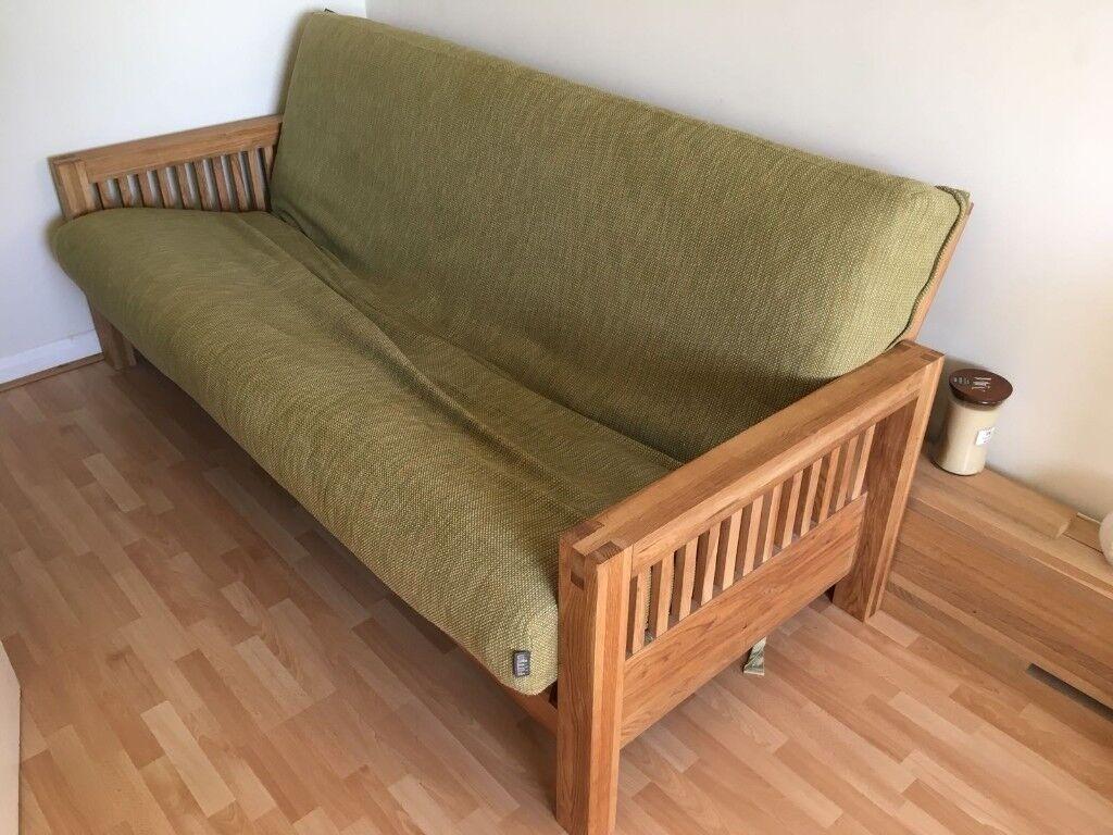 Futon Company Oak Sofa Bed Oke 3 Seater