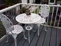 Cast iron table chairs beautiful