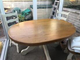 Country kitchen style solid table and chairs