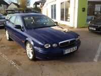 SWAINSTHORPE MOTOR CO JAGUAR X-TYPE 2.5 V6 SPORT AUTO BLUE MOT JUNE 2017
