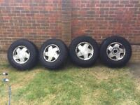 16' GM off road alloy wheels with mud tyres,set of 4,