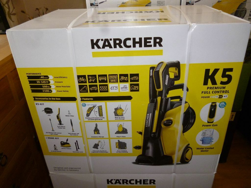 karcher k5 premium full control home pressure washer brand new sealed in box in bramley west. Black Bedroom Furniture Sets. Home Design Ideas