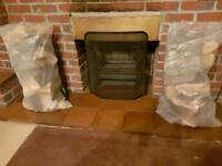 Large bags of logs for sale