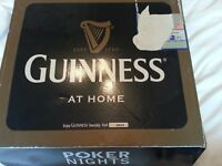GUINNESS POKER BOX SET COMPLETELY NEW UNUSED GIFT