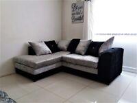 Brand New Dylan Crush Velvet Fabric 3+2 / Corner Sofa / Swivel Chair / Footstool