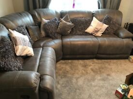 Brand new corner suite bought 2 weeks ago cost 1500 , recliners as seen in photos