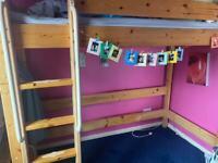 Kids Teens High Low Rise Single Bunk Bed