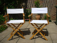 2 Director's chairs