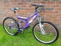 Ladies solace mountain bike hardly used