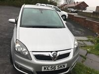 2007 VAUXHALL ZAFIRA DESIGN SILVER,1.8 , 7 Seats , 2 Owners from new