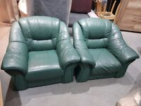 2 LEATHER ARMCHAIRS!!!