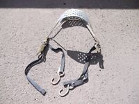 Motorcycle Rear Wheel Tie Down, Transport, ideal for van or trailer. Comes with Rachet Strapes.