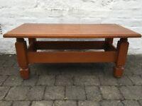 Teak wood sturdy coffee table