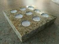 Marble candle holder (very heavy)