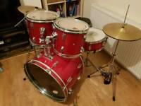 Full Drum Kit inc Hardware & Cymbals