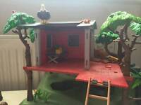 Playmobil camping and tree house