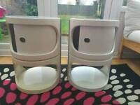 Retro 1970's bedside tables, Kartell style