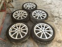 (SET OF 5) 17 INCH 10 SPOKE ALLOY WHEELS FOR TOYOTA AVENSIS, 5 STUD - REFURBISHED-SCRATCH-LESS