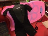 Belly board and wet suit size 12