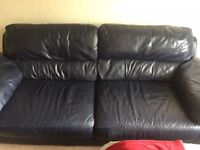 x2 3 Seater leather sofa's