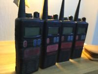 4 Entel walkie talkies submersible