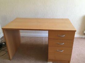 Desk - John Lewis filing desk Oak Veneer dimensions H74 x W120 x D65cm