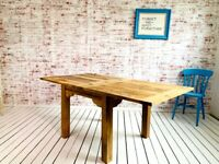 Farmhouse Extending Dining Kitchen Reclaimed Table to Seat Eight People - Contemporary