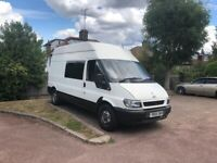 Ford transit 350LWB 2.4 very strong engine 55 plate long Mot perfect driver
