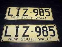cheap number plates LIZ985 datsun mazda ford vt au lancer bmw vz Seaham Port Stephens Area Preview