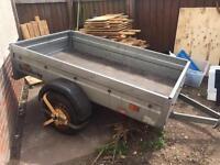 "Brenderup 7ft x 4ft Galvanised trailer + 13"" wheels"