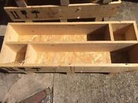 Wooden garden plant crate