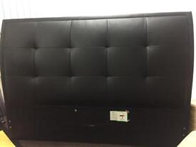 Leather headboard- king size bed