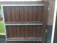Steel frame gate