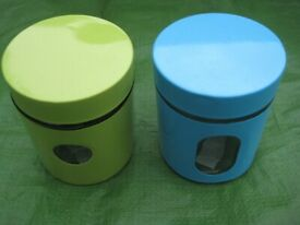 Two Glass Storage Jars with air-tight Lids for £3.00