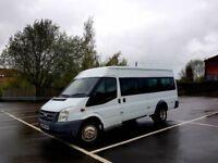 2008 XLWB 2.4 Ford Transit Minibus 15 Seater ONLY 33K Miles NEW 12 Mth Mot NO VAT!!!