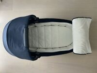 Cybex Mios Carry Cot Lux Midnight Blue Plus - Excellent Condition