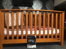 Mamas and papas alpine cot bed solid wood.