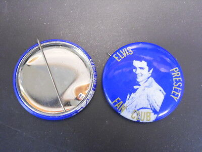 "Elvis Presley 1956 Original Fan Club Pin Back EXCELLENT CONDITION 1 3/4"" E.P ENT"