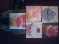 Bun/cupcake canvases