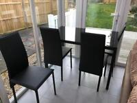 BRAND NEW Argos glass table & chairs