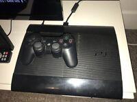 Sony PS3 Super Slim 500gb & 3 games