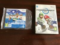 Wii Sports Resort and Mario Kart games for Nintendo Wii £25
