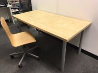 Large Office desk (IKEA) with chair