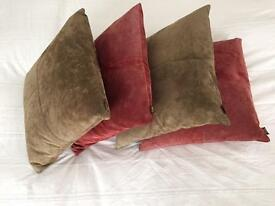 Alma Suede leather cushions