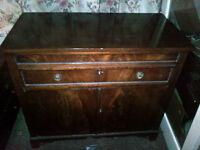 Antique walnut sideboard/cupboard