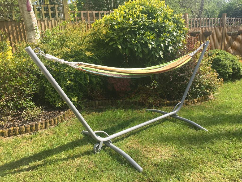 ikea hammock stand outdoor g r in st albans hertfordshire gumtree. Black Bedroom Furniture Sets. Home Design Ideas